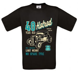 Premium 40 Year Old Hotrod Classic Custom Car Design For 40th Birthday Anniversary gift t-shirt